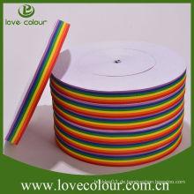 Fabrik-Großverkauf-kundenspezifisches Polyester-Mehrfarbenregenbogenband