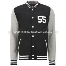 Black Custom Baseball Fleece Varsity Jacket for men and women