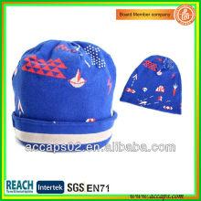 Custom quality blue fold up beanie hats wholesale BN-2010