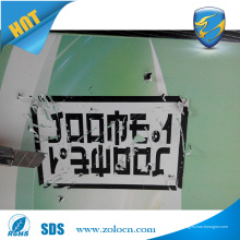 Hohe Qualität Eine Farbe gedruckt Zerstörbare Vinyl Label Zerbrechliche Sicherheit Eierschale Aufkleber