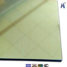 Espelho de ouro Placa de alumínio decorativa