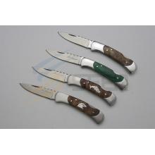 """6.5 """"madeira Handle Pocket faca com figura animal (se-471)"""