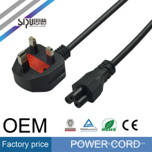 SIPU China manufacturer wholesale 10A 16A 250V 220V uk ac plug power cord for laptops