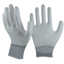 NMSAFETY13g knitted liner pu coated protection gloves