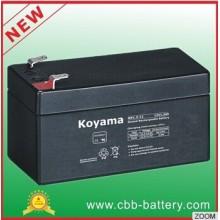 Baterias de ácido de chumbo reguladas por válvulas Koyama 12V1.3ah para iluminação de emergência