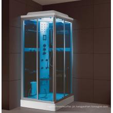 Feito na China moda sauna de cabine de banho retangular e quarto combinado de vapor