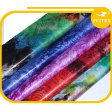 Usine de vêtement de mariage Fashion Bazin coton tissu tissu tissu Super Print pour chemises et chemisiers
