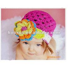 Детские вязание крючком Hat младенческой вязание крючком Весна шапочка ужин Мягкие детские вязания крючком шляпы Дети вязание крючком