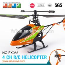 22cm pequena escala 2.4G 4CH hélice única rádio helicóptero de controle com certificado do CE/FCC/ASTM gyroscoper