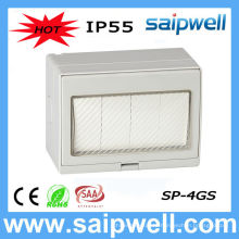 Saip Высокое Качество Ванная Комната IP55 водонепроницаемый 4 Gang switch с CE, ROHS