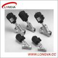 Válvula de asiento de ángulo roscado neumático del proveedor de Wenzhou