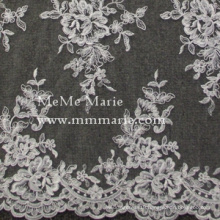 Rose Ivory Embroidery Lace Fabric Curtain Lace Fabric Bridal Wedding Lace 52'' No.CAC420