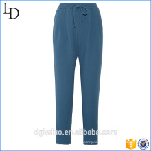 Custom printing pajama bottoms plain lounge pants with drawstring waistband