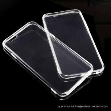 Carcasa de TPU móvil transparente de alta calidad Icheckey para iphone 6