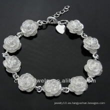 Pulsera linda de la flor de la venta 925 de la joyería caliente de la plata para las muchachas BSS-024