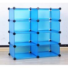 Organizador de almacenamiento de plástico con pantalla azul, productos de almacenamiento para el hogar
