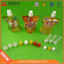 Boquilla de plástico con tapa para bolsa de gelatina Fabricante