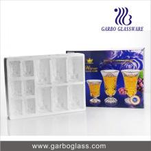 Taza de cristal grabada alta calidad 12PCS, vidrio de vino GB28002ty