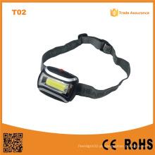 T02 A melhor fábrica baratos recarregável Headlamp COB LED de alta potência