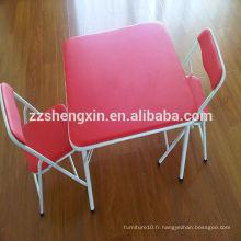 Bureau de jardin d'enfants et chaises Ensemble de table pliante pour enfants en métal