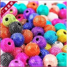Prix Yiwu Factory Bijoux en cristal de strass en cristal perles pavées, perles colorées de haute qualité shamballa 2013 chaud HB-1021