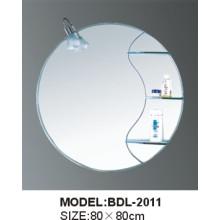 Espejo de baño de vidrio de 5 mm de espesor de plata (BDL-2011)