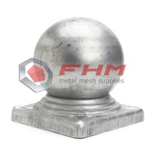 Galvanized Ball Cap for Post