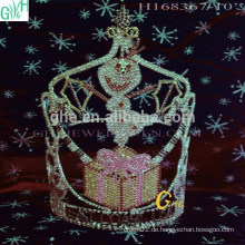 Große tiara und tiaras Großhandel Mini Star Rhinestone Tiaras gefrorene Elsa Tiara