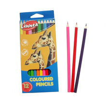 12pcs niños lápiz de color que dibuja lápices de colores naturales de madera