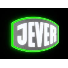 Letrero con logotipo de metal Jever 3D