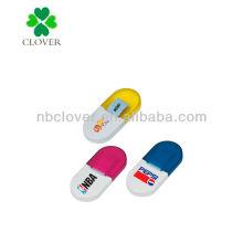 Mini pill shaped memo pad holder