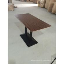 Table de salle à manger classique de couleur de noyer de couleur (FOH-CXSC67)