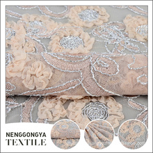 China designer fashion party wholesale polyester ribbon embroidered fabric