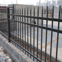 SGS galvanized steel picket fence