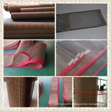 100% veik PTFE non stick ptfe mesh belt fiber glass fabric