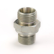 High quality male metric to bsp o-ring straight nipple connector hydraulic pipe fittings
