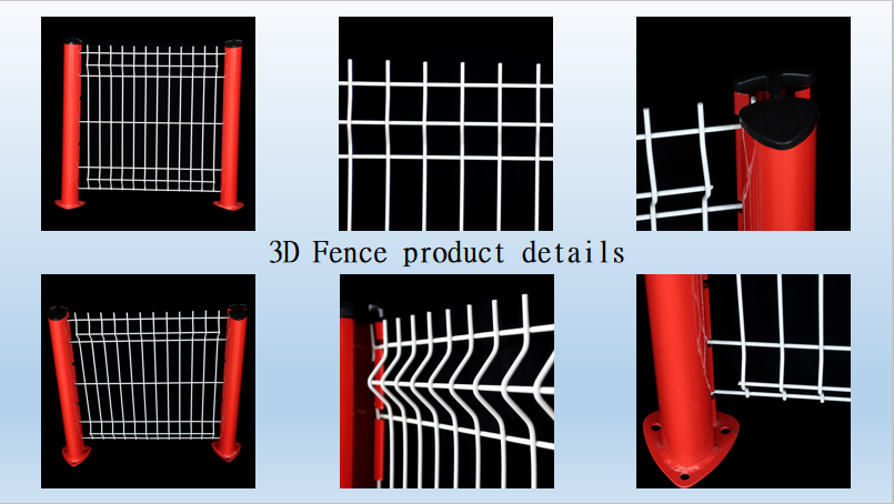 3D Curvy Welded Wire Fence Panels