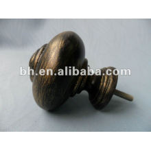 resin curtain finials, black gold curtain rod finial, D16/19mm curtain pole finial