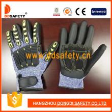 Порезостойкие перчатки Пэвд оболочки при черный Нитрил-TPR226