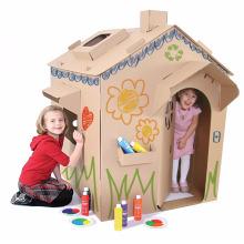 Usine en gros facile à assembler écologique maison de papier pour les enfants