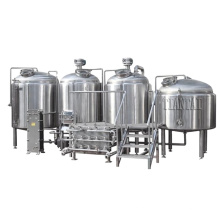 1200L 12HL 10BBL Automatic Stainless steel direct fire heating 2 vessel micro brewery equipment uk