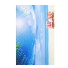 india azul e branco oem toalha de praia sublimação