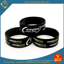 Werbungs-Großhandel erweitertes schwarzes Gummi-Silikon-Armband (LN-031)