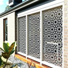 Decorative stainless steel sheet laser cut metal wall art garden screen panels for outdoor