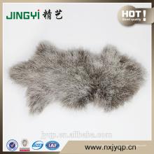Chine Fournisseur Véritable mouton mongol peau de fourrure Rose
