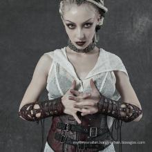 PUNK RAVE WS-338DQF lady girl sexy plus size women teampunk leather club glove sleeves