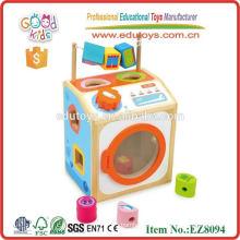 Pretend Toys Wooden Washing Machine Toy