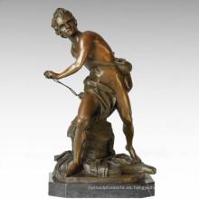 Soldados Figura Estatua Masculino David Bronce Escultura TPE-341