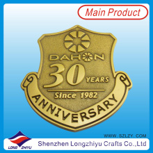 30th Anniversary Promotion Enamel Badge Metall Gold Army Pin Abzeichen Medaille Wir machen Custom Embossed Metallogo Abzeichen Pin Medal Factory (LZY201300280)