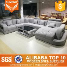 living room fabric couch sofa furniture u shape fashion design sofa set